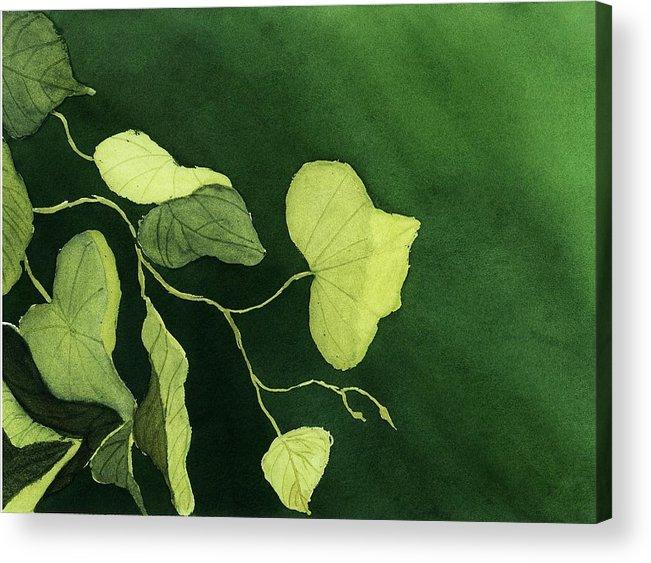 Vines Acrylic Print featuring the painting Kudzu by Joan Zepf