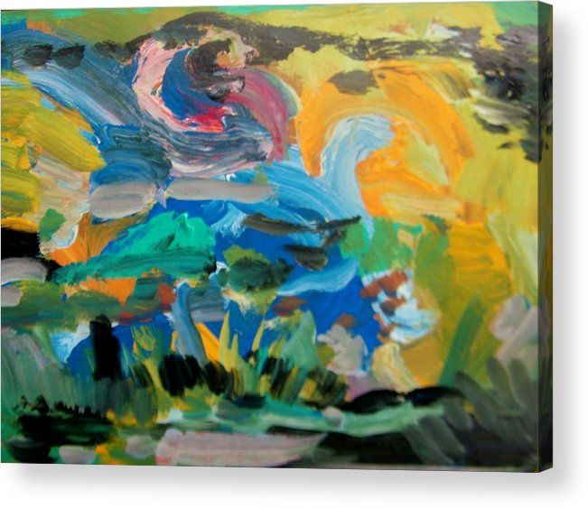 Abstract Acrylic Print featuring the painting Landscape Palette by Judith Redman
