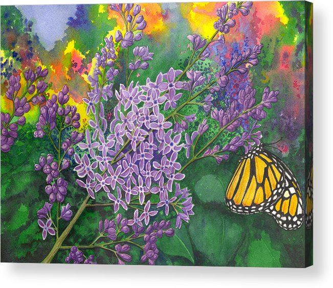 Lilac Acrylic Print featuring the painting Lilac by Catherine G McElroy