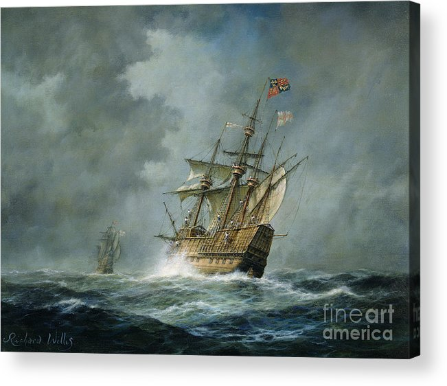 Mary Rose Acrylic Print featuring the painting Mary Rose by Richard Willis