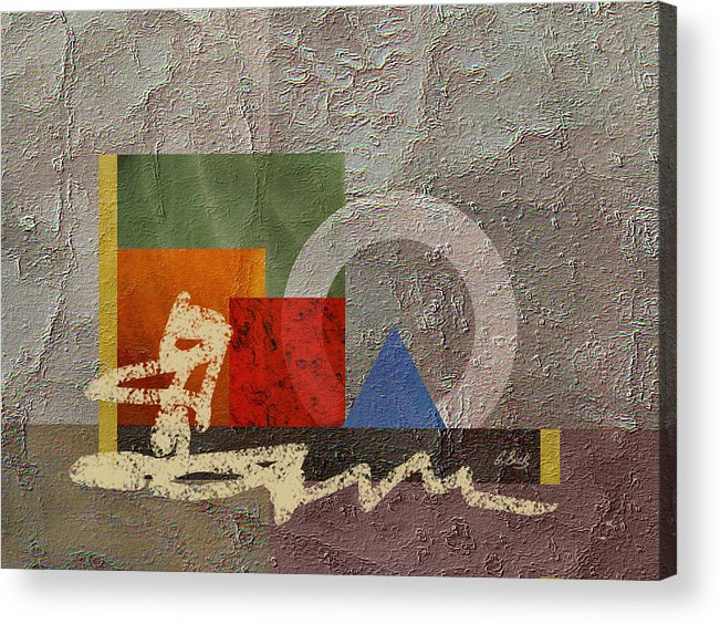 Contemporary Modern Acrylic Print featuring the painting Metro by Gordon Beck