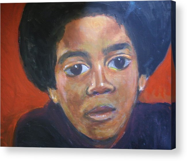 Michael Jackson Acrylic Print featuring the painting Michael Jackson by Jan Gilmore