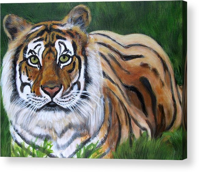 Bengal Tiger Acrylic Print featuring the painting Mighty Bengal by Vickie Wooten