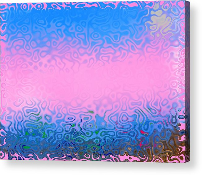 Morning.sea.fog.sun.water Illusions.morning Cold.colors Blue.rose. Acrylic Print featuring the digital art Morning Sea Fog.cold Water by Dr Loifer Vladimir