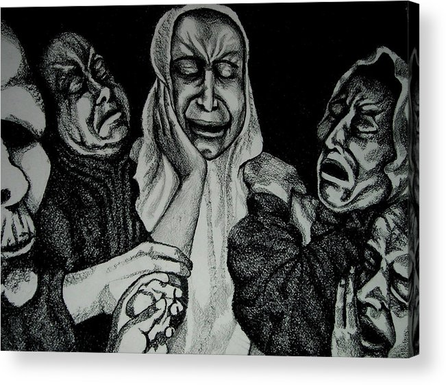 Mother Acrylic Print featuring the drawing Mother by Dannielle Murphy