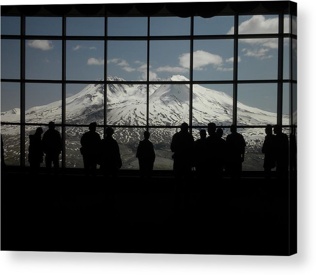Landscape Acrylic Print featuring the photograph Mt. Saint Helens..an Active Valcano by Garry Kaylor