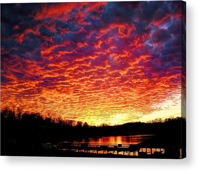 Sunset Acrylic Print featuring the photograph Napalm Clouds by Andrew Webb