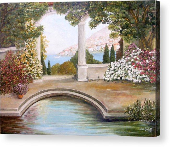 Rose Garden Acrylic Print featuring the painting Naples by Oksana Gnatyuk