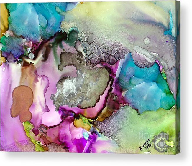 Space Acrylic Print featuring the painting Nebula 3 by Susan Kubes
