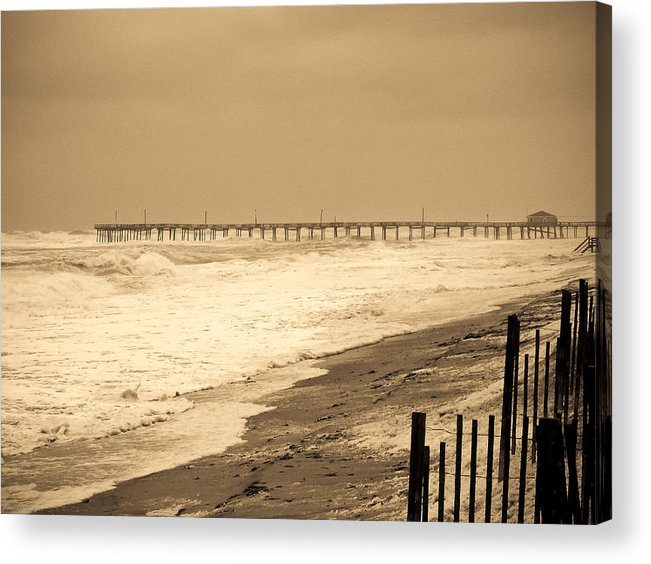 Ocean Acrylic Print featuring the photograph Nor'easter At Nags Head by Ches Black