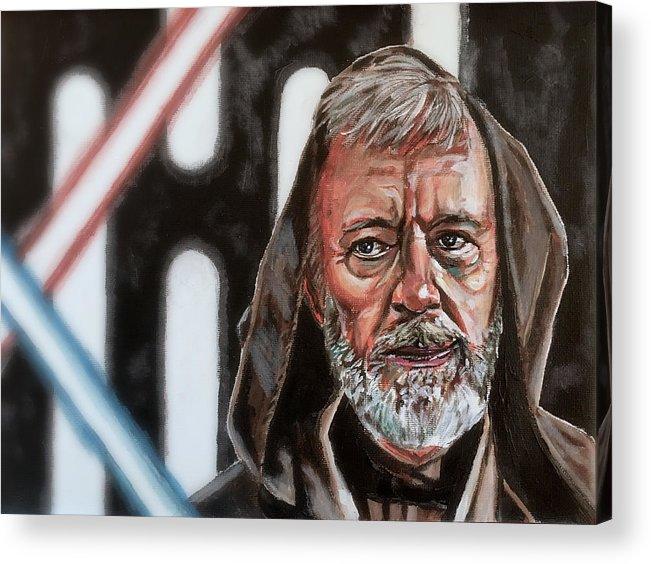 Star Wars Acrylic Print featuring the painting Obi-wan Kenobi's Last Stand by Joel Tesch