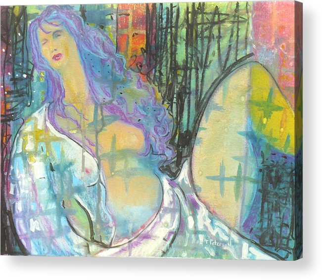 Painting Acrylic Print featuring the painting Odalisque by Todd Peterson