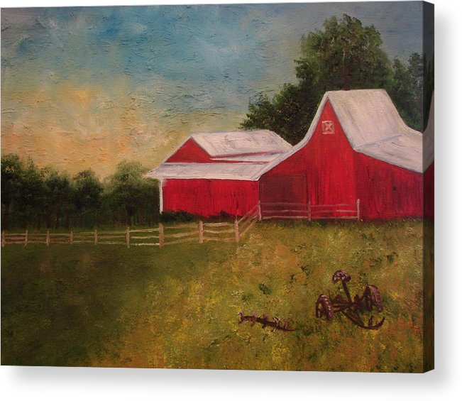 Landscape Acrylic Print featuring the painting Old Big Red by Shiana Canatella
