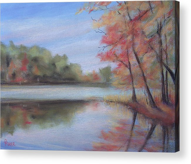 Lakescape Acrylic Print featuring the painting Old Friend by Pete Maier
