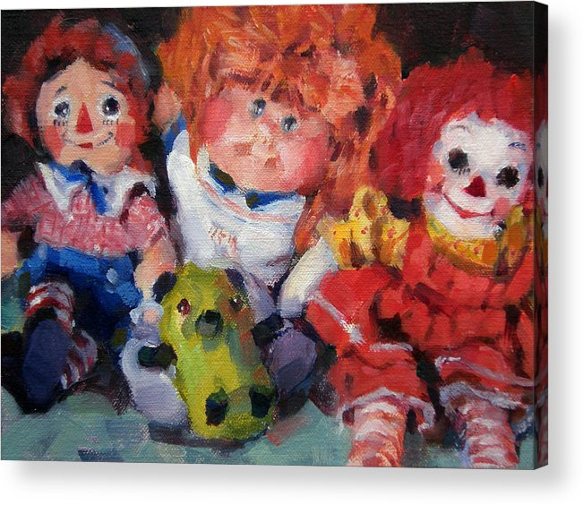 Toys Acrylic Print featuring the painting Old Friends by Merle Keller