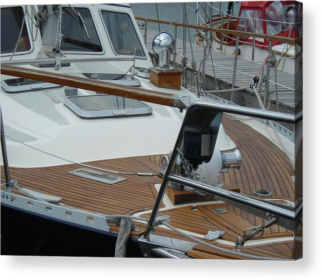 Boats Acrylic Print featuring the photograph On Deck by Peter Mowry