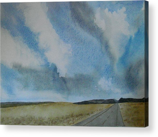 Landscape Acrylic Print featuring the painting On The Way To........... by Liz Vernand
