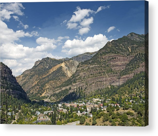 Ouray Acrylic Print featuring the photograph Ouray Colorado Nestled In The San Juan Mountains by Brendan Reals