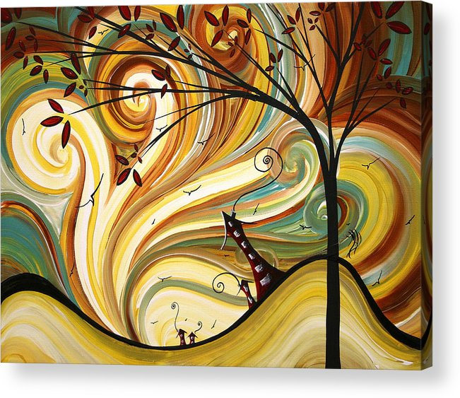 Art Acrylic Print featuring the painting Out West Original Madart Painting by Megan Duncanson