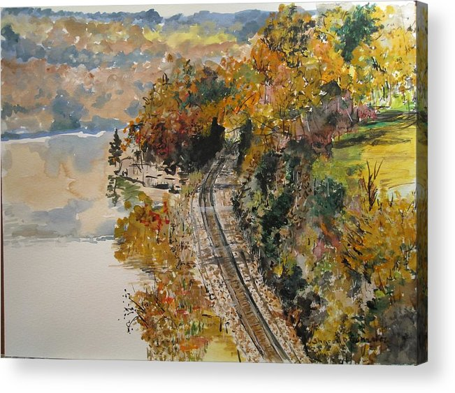 Autumn Acrylic Print featuring the painting Ozark Fall by Sharon De Vore