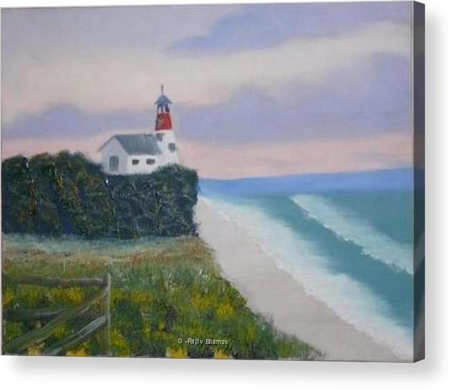 Seascape Acrylic Print featuring the painting Peace Sold by R B