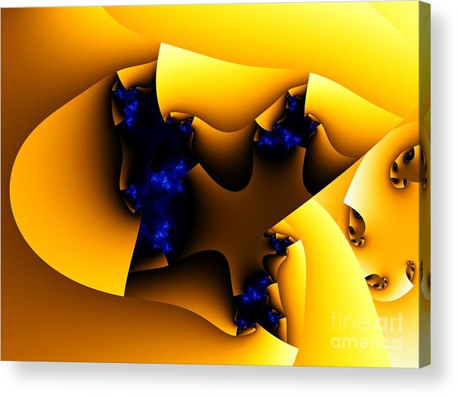 Fractal Art Acrylic Print featuring the digital art Peeling Away by Ron Bissett
