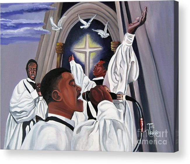 Painting Acrylic Print featuring the painting Praising God by Toni Thorne