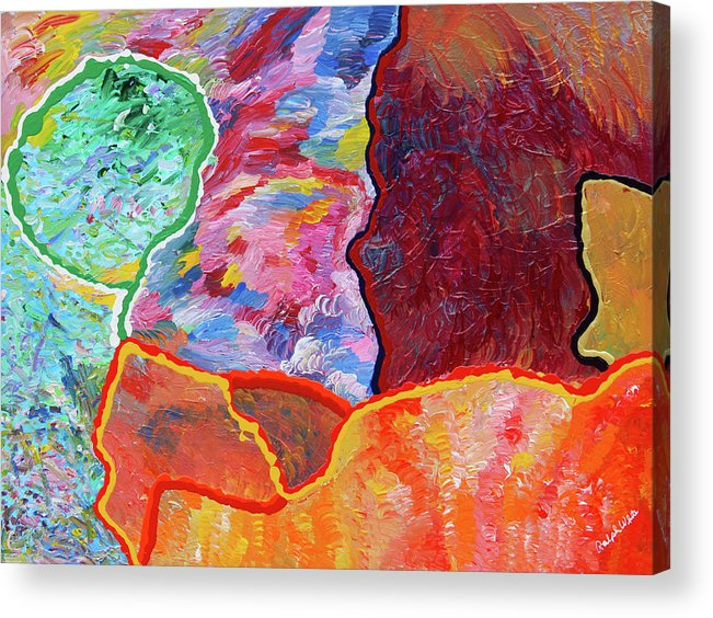 Fusionart Acrylic Print featuring the painting Puzzle by Ralph White