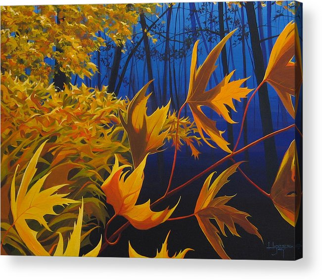 Autumn Leaves Acrylic Print featuring the painting Raucous October by Hunter Jay