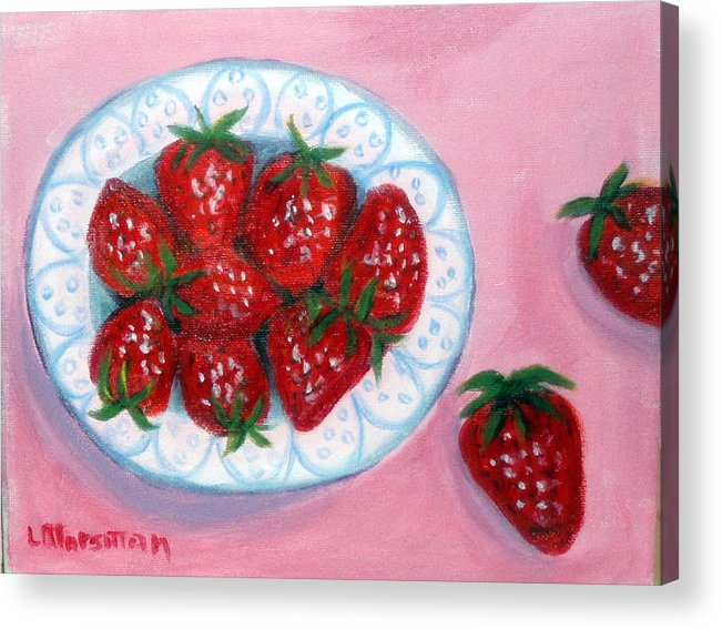 Red Acrylic Print featuring the painting Red And Juicy by Lia Marsman