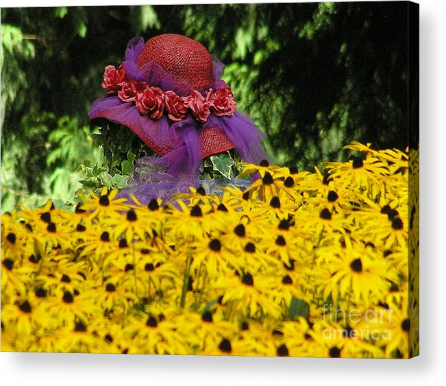 Red Hat Acrylic Print featuring the photograph Red Hat Parade by Louise Magno