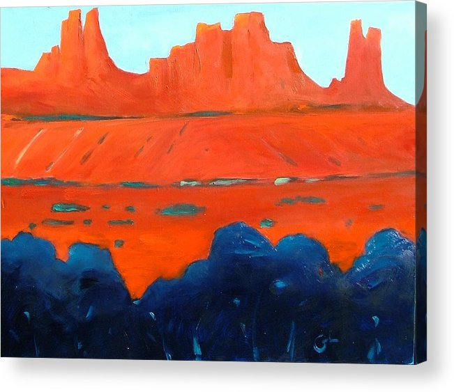 Landscape Acrylic Print featuring the painting Red Sedona by Gary Coleman