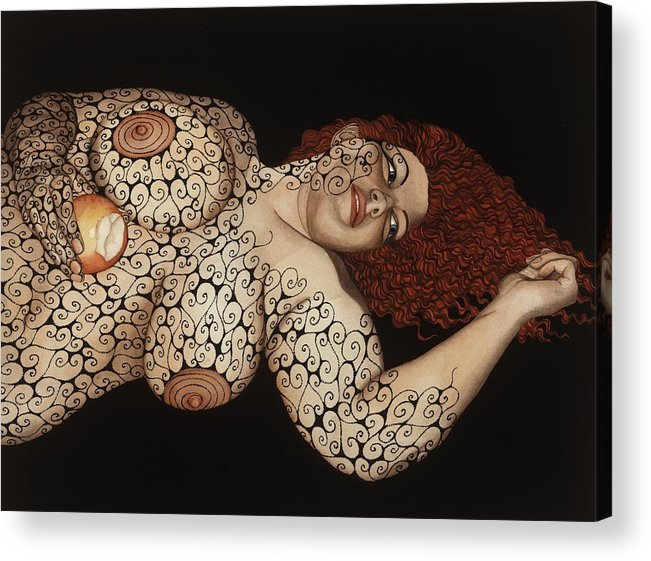 Figurative Acrylic Print featuring the painting Redemption by Tina Blondell