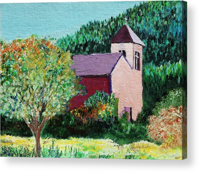Church Acrylic Print featuring the painting Ruidoso by Melinda Etzold