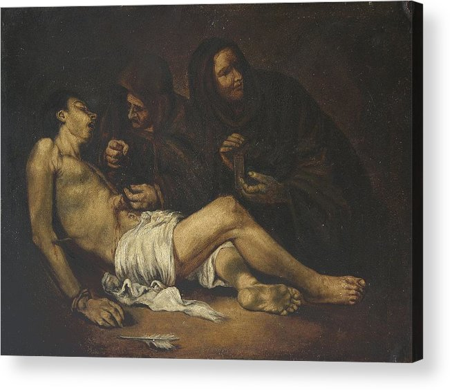 Religion Acrylic Print featuring the painting San Sebastian by Unknown