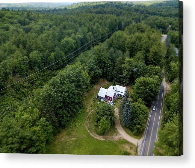 Drone Photography Acrylic Print featuring the photograph Tilt-shift Farm by David Stevens