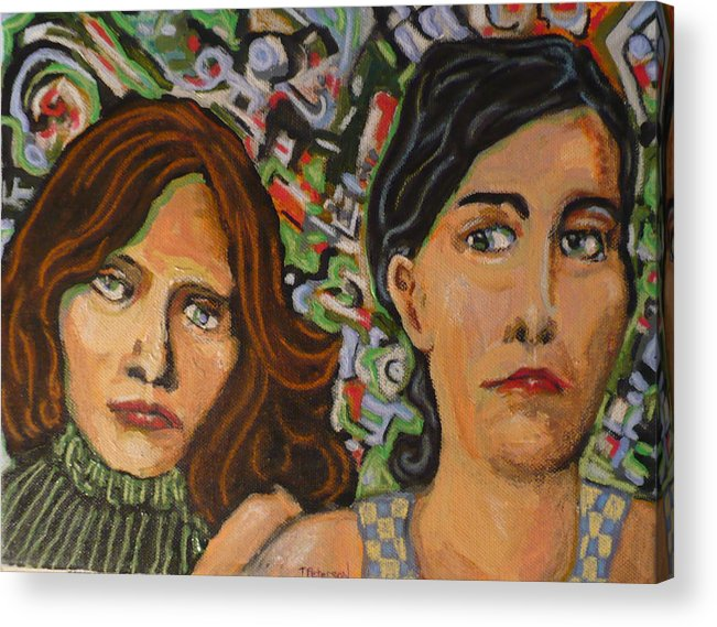 Mixed Acrylic Print featuring the painting Sisters In Art by Todd Peterson
