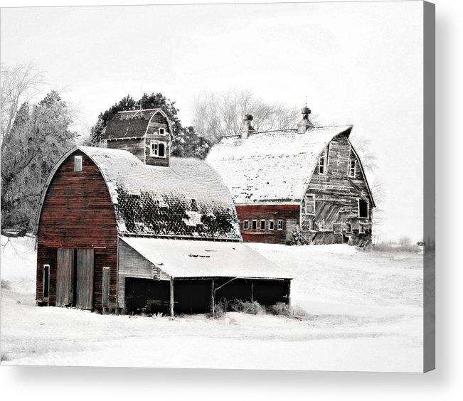 Christmas Acrylic Print featuring the photograph South Dakota Farm by Julie Hamilton