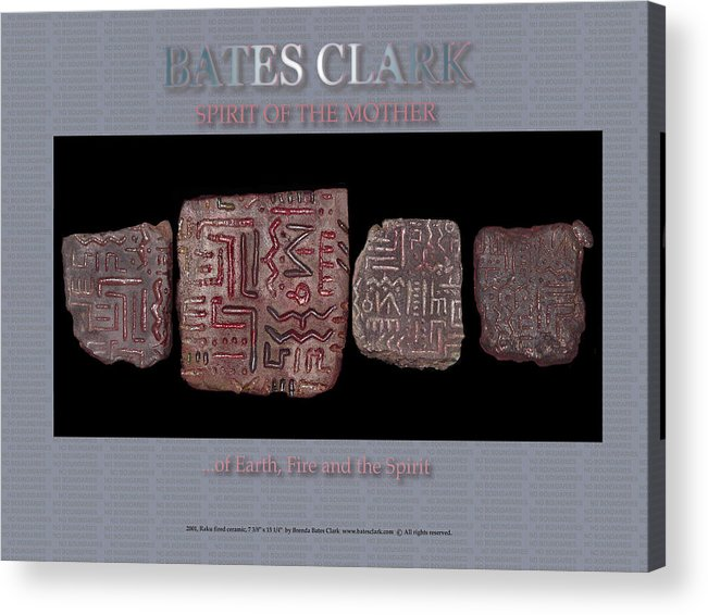 Digital Print Acrylic Print featuring the digital art Spirit Of The Mother by Bates Clark