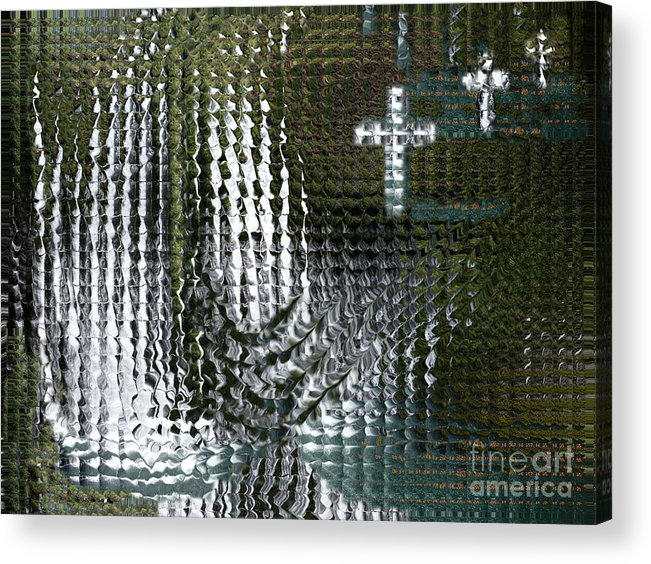 Spiritual Acrylic Print featuring the digital art Spirits Of The Cross by Stephanie H Johnson