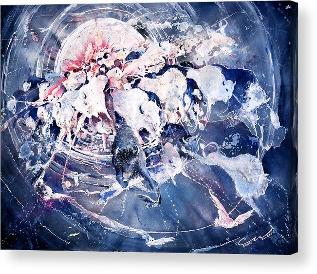 Spiritual Acrylic Print featuring the painting Spirits Released by Connie Williams