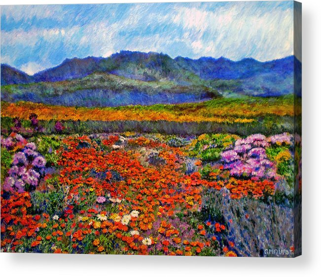Spring Acrylic Print featuring the painting Spring In Namaqualand by Michael Durst