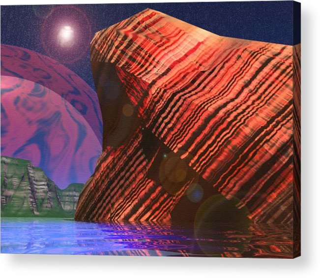 Cilff Acrylic Print featuring the digital art Stars And Might by Adam Wells