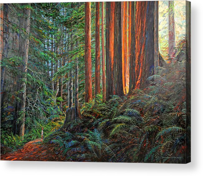 Landscape Acrylic Print featuring the painting Stillwater Cove Canyon Trail by Gary Symington