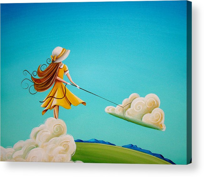 Girl Acrylic Print featuring the painting Storm Development by Cindy Thornton