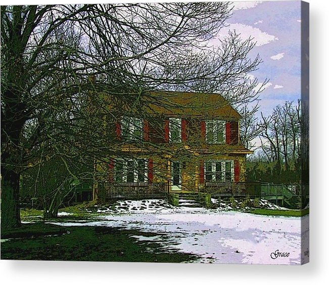 Cottage Acrylic Print featuring the photograph Storybook Cottage by Julie Grace