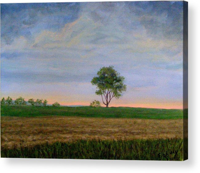 Landscape Acrylic Print featuring the painting Summer Storm by Evelynn Eighmey