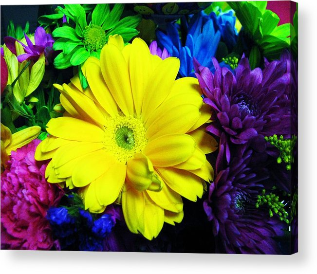 Flowers Acrylic Print featuring the photograph Sunny And Bright by Nikki Mansur