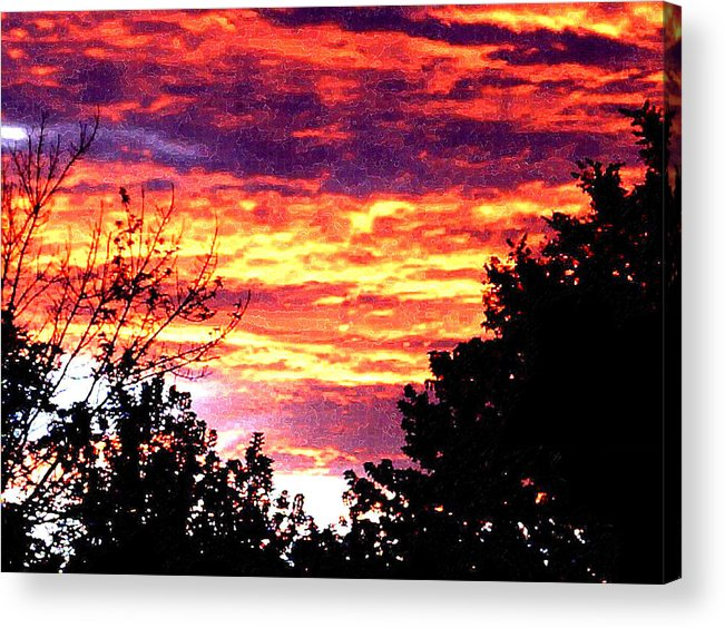 Sunrise Acrylic Print featuring the photograph Sunrise Over The S.p. by Nathaniel Hoffman