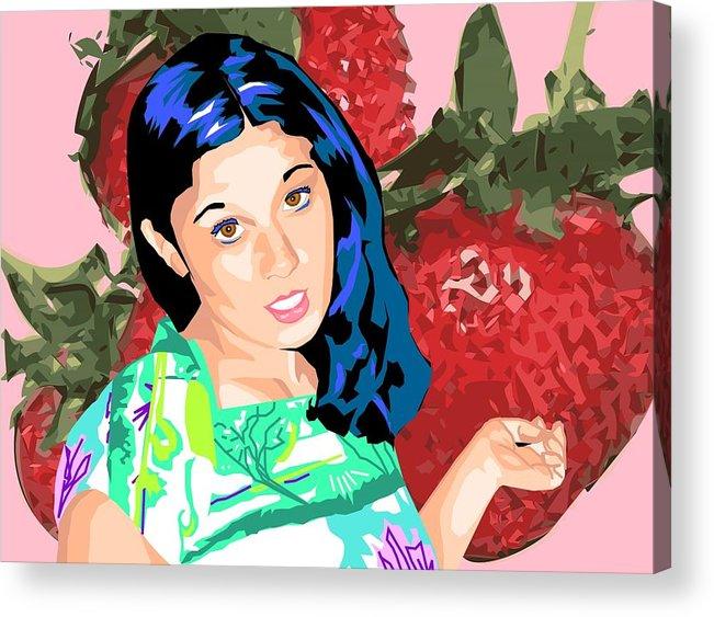 Berries Acrylic Print featuring the digital art Tasty by Sarah Crumpler